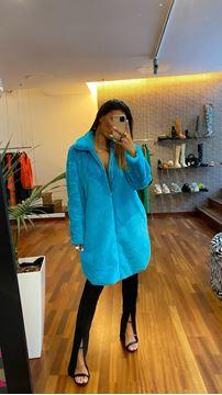 Imagem de Casaco de Pelo Azul Joleen Fashion