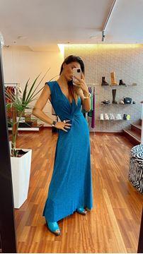 Imagem de Vestido Lurex Azul